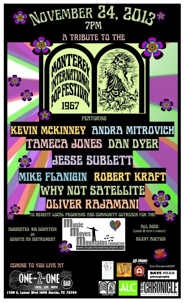 MMMF benefit 11.24.13 Tribute to Monterey Pop